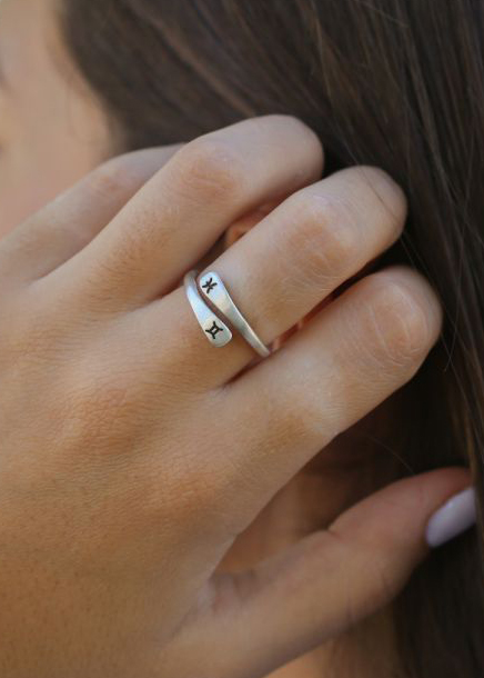 Written In The Stars Zodiac Signs Ring [Sterling Silver]